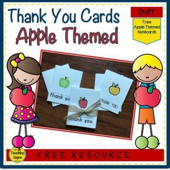 Apple Thank You Notecards {FREE}