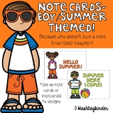 Summer/End of Year Note Cards!