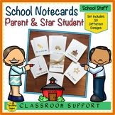 Notecards: Parents  and Star Students