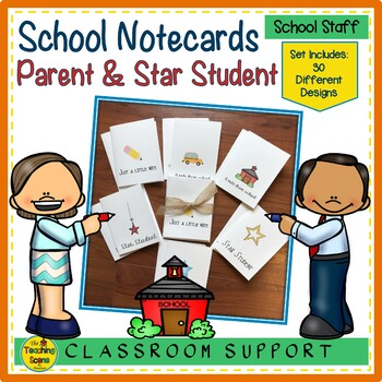 Note to Parents and Star Students Notecards
