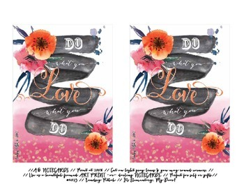 Notecards for Teachers {Printable}: Do What You LOVE
