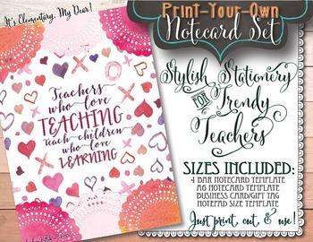 Notecards for Teachers {Printable}: Love Teaching, Love Learning