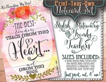 Notecards for Teachers {Printable}: Teach From the Heart