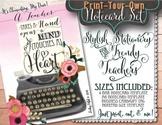 Notecards for Teachers {Printable}: Teachers Touch Hearts
