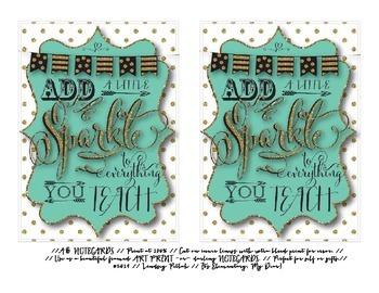 #weheart4k Notecards for Teachers {Printable}: Triple Design Bundle!