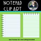 Notepad Clipart - 14 total - 300 dpi