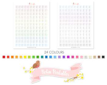 Notepad Printable Planner Stickers