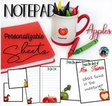 Notepad Sheets Set – Apples