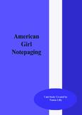 American Girl Notepaging