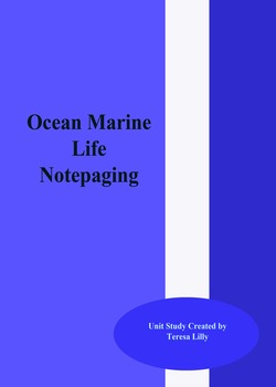Ocean and Marine Life Notepaging