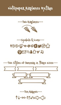 Notepaper Airplanes Font Family Font for Commercial Use