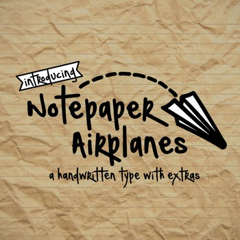 Notepaper Airplanes Font for Commercial Use