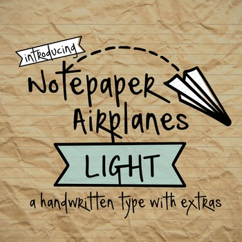 Notepaper Airplanes Light Font for Commercial Use