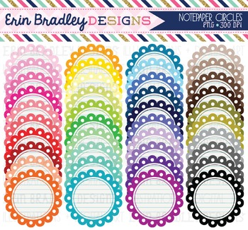 Notepaper Circles Clipart