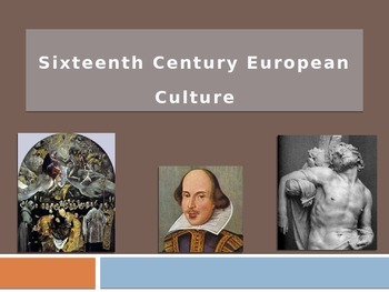 Notes: 17th Century European Culture