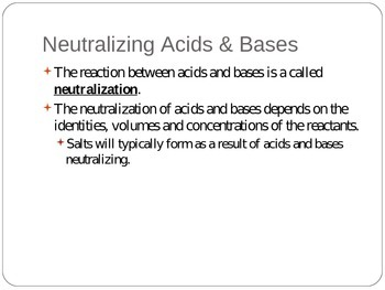 Notes: Acids and Bases