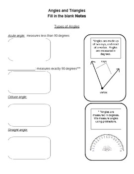 Notes: Angles and Triangles 1