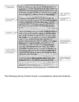 Notes: Annotating a Text - Student Examples