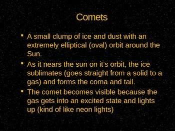 Notes: Asteroids, Comets and Meteors- oh my!