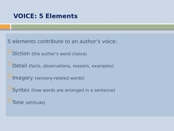 Notes: Author's Voice- Power Point