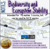 Notes: Biodiversity, and Ecosystem Stability - For Marine