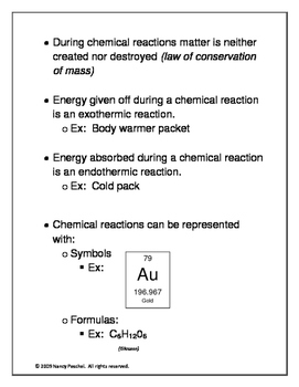 Notes:  Chemical Reactions