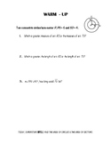 Geometry Notes (Circles) - Area of Circles & Sectors