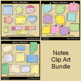 Notes Clip Art Bundle
