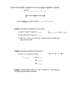 Geometry Notes (Basics of Geometry) - Congruence, Distance, & Length