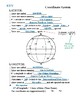 Notes - Coordinate Systems