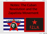 Cuban Revolution and Zapatista Movement Resources