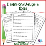 Notes: Dimensional Analysis