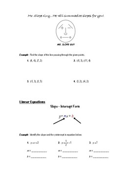 Geometry Notes (Equations of Lines) - Eq. of Lines in the Coord. Plane