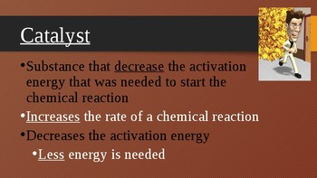 Enzymes and Catalysts: Presentation and Notes