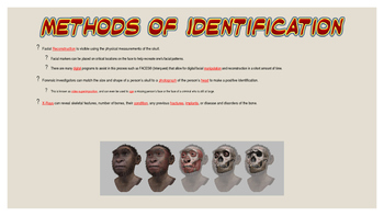 Notes - Forensic Anthropology