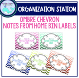 Notes From Home Bin Labels: Ombre Chevron