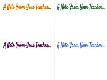 Notes From The Teacher