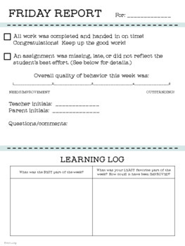 Notes From the Teacher: Paper Style Stationery and Communication Templates
