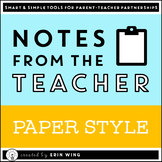 Notes From the Teacher: Paper Style Stationery and Communi
