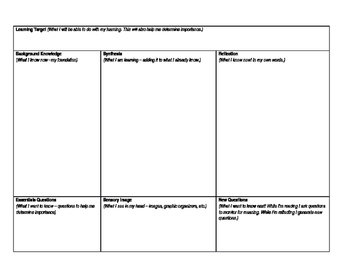 Notes Graphic Organizer