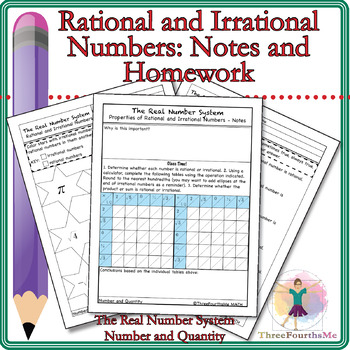Rational and Irrational Numbers: Notes & Homework