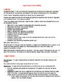 Notes/Handout on Legal Issues
