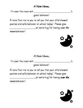 Notes Home for Good Behavior and Good Work