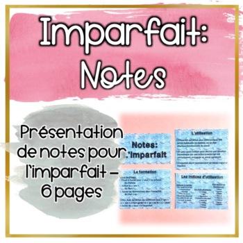 Notes: Imparfait