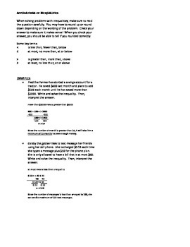 Notes - Inequalities