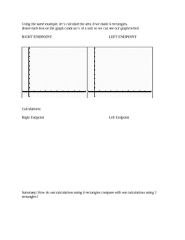 Notes Left/Right/Trapezoid Midpoint for Reimannn Sums
