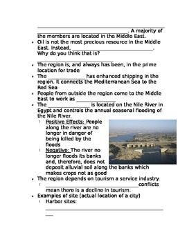 Notes Middle East and North Africa
