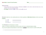 Literal Equations: Guided Notes