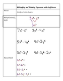 Notes - Multiplying and Dividing Exponents with Coefficients