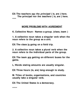 Notes on Agreement